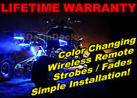 Hisun Motors Atv 4x4 Quad 4wheeler Led Underglow Body Light Kit Keychain Remote