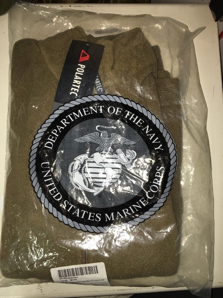 USMC Marine Corps  Polartec Fleece Pul r, Coyote Brown - Small - NEW in BAG  exclusive designs