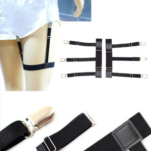 2-Pcs-Men-Shirt-Stays-Belt-Non-slip-Locking-Clips-Keep-Shirt-Tucked-Leg-Str-DFC
