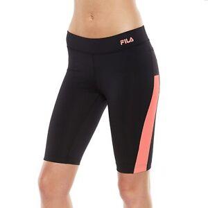 d511698962bc FILA SPORT Women s Black Coral Gem Strength Workout Bermuda - Size S ...