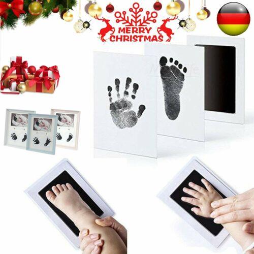 """Baby Handabdruck und Fußabdruck mit Zwei/""""CleanTouch/"""" Stempelkissen in Schwarz"""