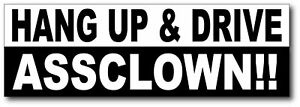Hang-Up-amp-Drive-ASSCLOWN-Funny-Sticker-H1-H2-H3-SUT-4x4