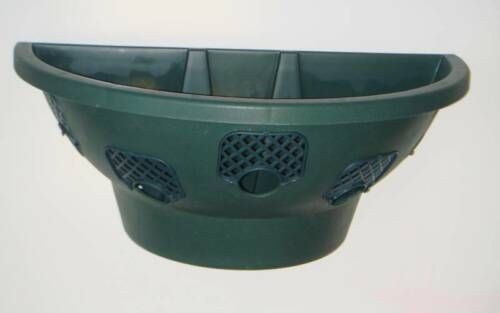 "GREEN 5 X 18/""  EASY FILL HANGING WALL PLANTER BASKETS"
