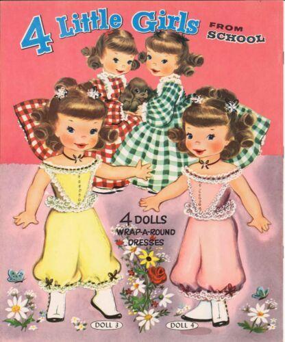 Vnt 1954 4 GIRLS from SCHOOL PAPER DOLL LASER REPRODUCTION~UNCUT~LO PR~TOP SLLER