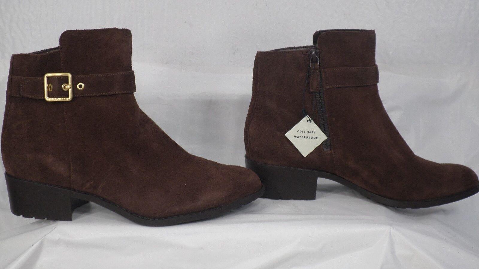 Cole Haan 'Indiana' Chestnut Braun Suede Waterproof Ankle Boot Damens Größe 8.5 B
