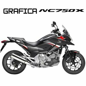 ADESIVI-DECAL-STICKERS-HONDA-NC750X-NC-750-X-RACING-CARENA-GRAFICA-BIANCO-ROSSO