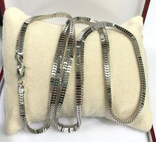 """18k Solid White Gold Man Big Snake Chain/Necklace Dimond Cut. 26"""". 23.02 Grams"""