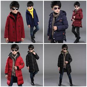 0e0c17138e17 Boy Kids Winter Coat Jacket Jumper Snowsuit Puffer Hooded Size 3-16 ...