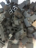 Lego Bulk Lot Of 50 1x2 Bricks Bluish Dark Grey Gray
