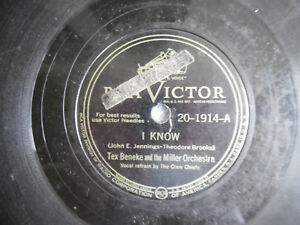 78rpm-10-034-RCA-Victor-Miller-I-Know-20-1914-Everybody-Loves-My-Baby-198-5AJ