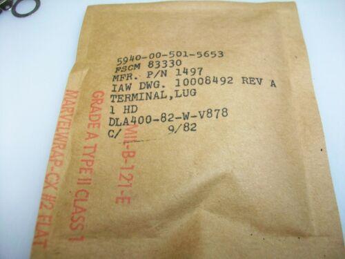 BAG OF 100   RING TERMINAL LUGS NSN # 5940-00-501-5653