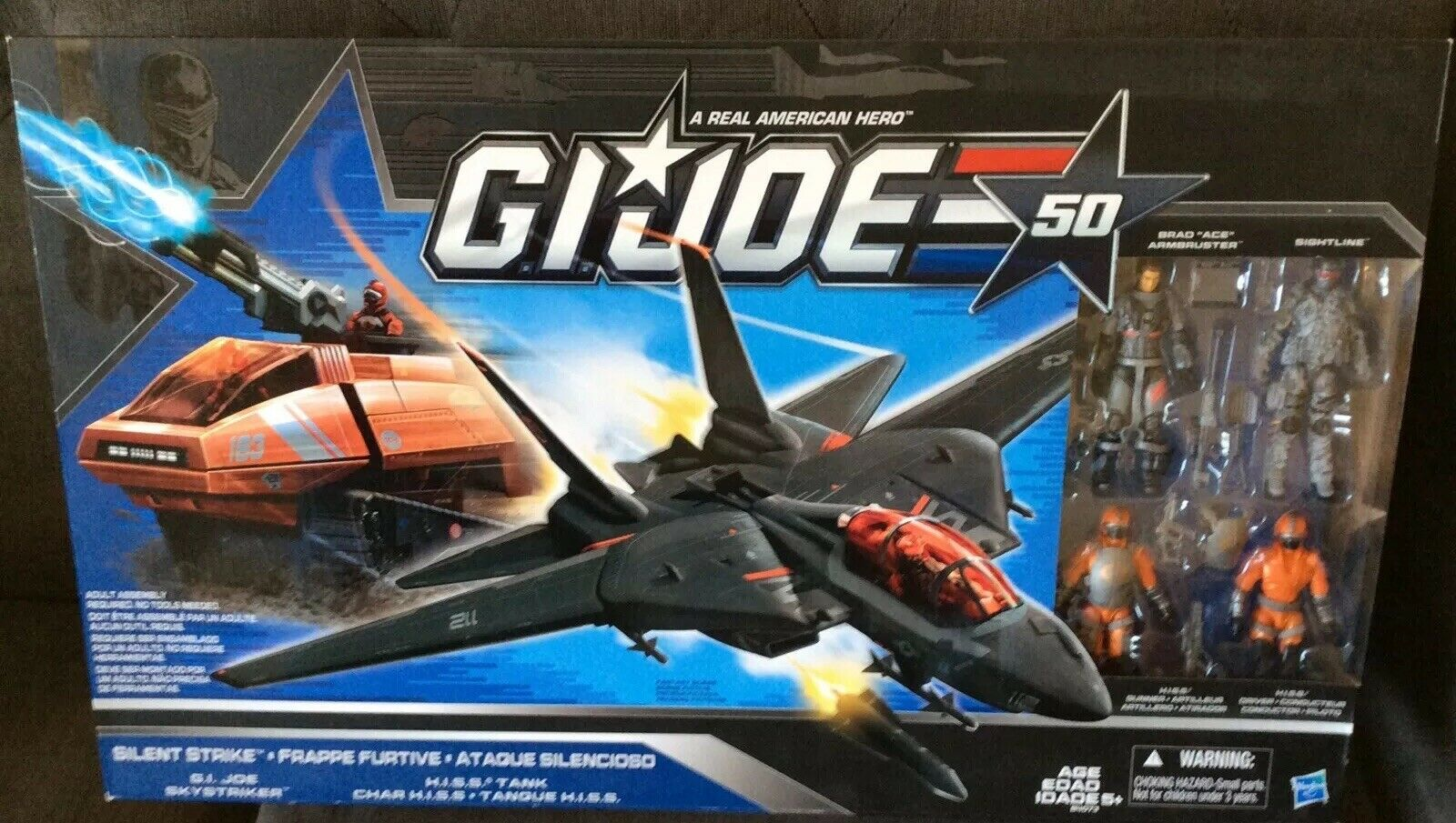 Skystriker In Cobra Hasbro Box Gi Silencieux Strike Hiss Comme Neuf tshQrdC