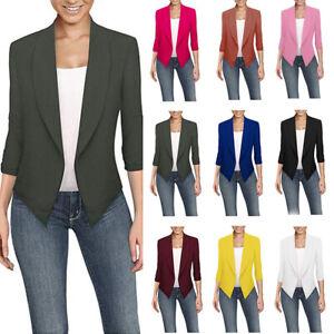 1x-Fashion-Womens-Slim-Fit-Outwear-Business-Blazer-Suit-Jacket-Tops-Outwear-Coat