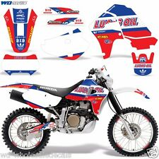 Graphic Kit Honda XR 650 Decal Wrap w/ Backgrounds/Rim Trim Sticker XR650R 00-10