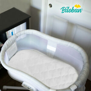 Oval-Soft-Bassinet-Mattress-Pad-Cover-Set-Fits-for-Halo-Bassinest-Waterproof