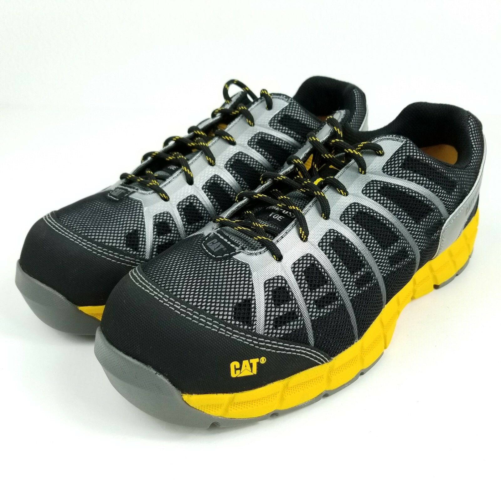 Caterpillar Flex CT Men's sz 11 Composite Toe Work Shoes Yellow CAT P90643