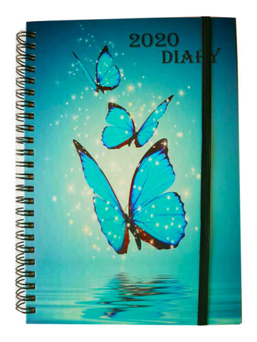 NEW 2020 Diaries A6 A5 and A4 Page a Day Week to View and Spiral Diaries