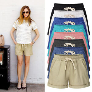 c01e1f5adb96 Image is loading Plus-Size-Womens-Casual-Loose-Shorts-Trousers-Ladies-