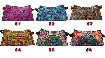 Thai Hmong Indian Asian Vintage Boho Hobo Ethnic Handmade Embroidered Gift Woman