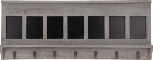 Garderobe mit 7 Haken und Tafeln Holz Vintage 90 x 35 x 5,5