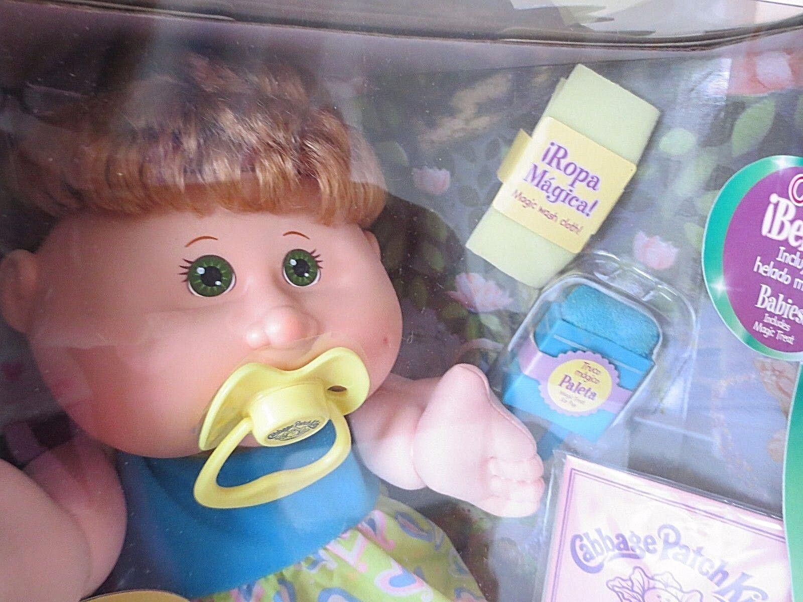 Cabbage Patch Kids bebés CHUPETE tratar Toalla nombre Nadia Trista Mar 20