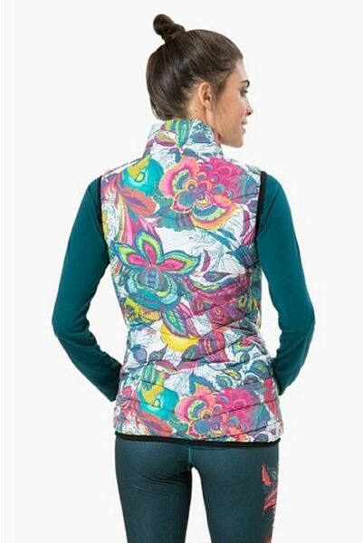 DESIGUAL Sport Weste Jacke *CHALE_PADDED GALACTIC BLOOM* shaded spruce
