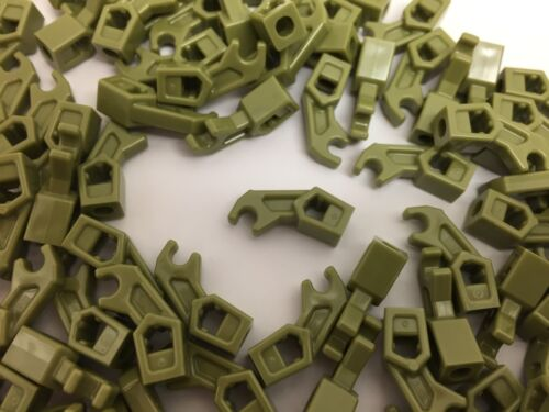 LEGO 53989 NEW Olive GREEN Robot Mechanical Arm Clips 2 Pieces Per Order