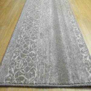 Teppichlaufer Laufer Flur Diele 100 Wolle Grau Creme Barock Stil