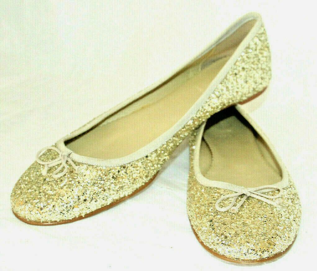 Wouomo scarpe New J Crew oro Glitter Flats Skimmers Dimensione  11US 42EU  vieni a scegliere il tuo stile sportivo