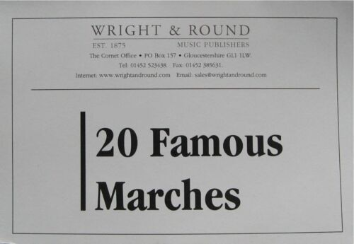 20 Famous Marches Various Instruments A5 Sheet Music Brass Band Part Book