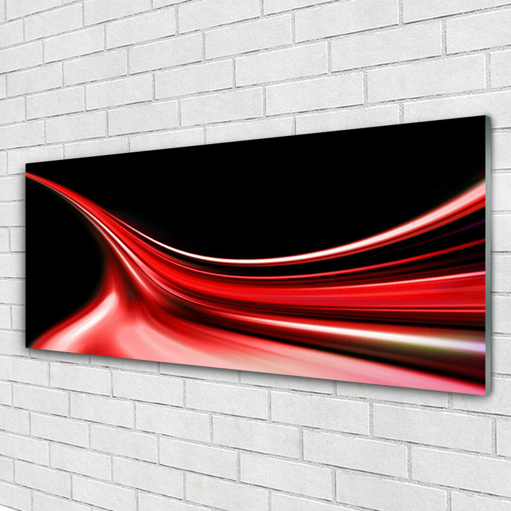 Print on Glass Wall art 125x50 Picture Image Abstract Lines Art