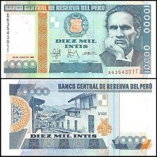 Peru 10,000 (10000) Intis, 1988, P-140, UNC