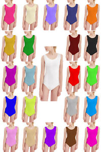 PAPAVAL-KSL-Kids-Girls-Sleeveless-Leotard-Gymnastics-Ballet-Nylon-Top-Uniform