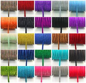 New-DIY-5-10-20-50-yards-3-8-034-10mm-Velvet-Ribbon-Headband-Clips-Bow-Decoration-C