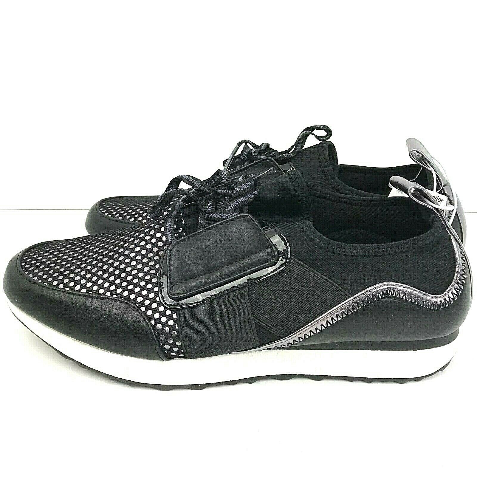 Massini Size 9 Womans Dressy Tennis shoes Black And Silver color Is Amy Black