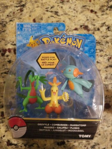Combusken TOMY Pokemon Grovyle Marshtomp Set 3 Figures New Rare FREE S//H