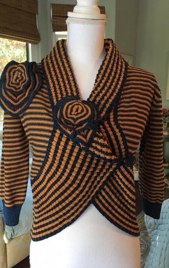 Lucca glittery stripe knit sweater very French