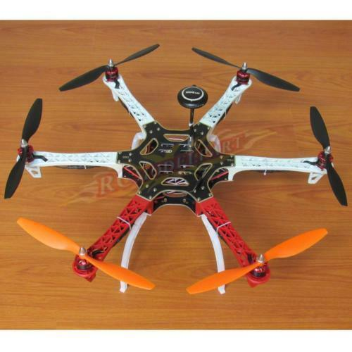 Diy - f550 hexacopter kit apm2.8 fc neo-7m gps 920kv bl - simonk 30a esc 1045