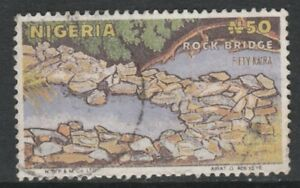 Nigeria 4368 - 1986 ROCK BRIDGE 50k POSTAL FORGERY