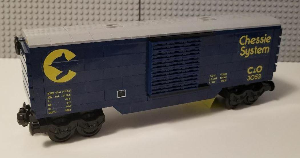 Lego Train Boxcar Chessie System Dark bluee - PLEASE READ ITEM DESCRIPTION -