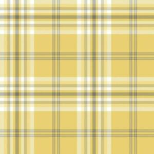 Yellow-Grey-White-Check-Wallpaper-Country-Tartan-Plaid-Stripe-Muriva-Kelso