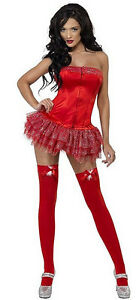smiffy 34932 red burlesque costume fancy dress halloween