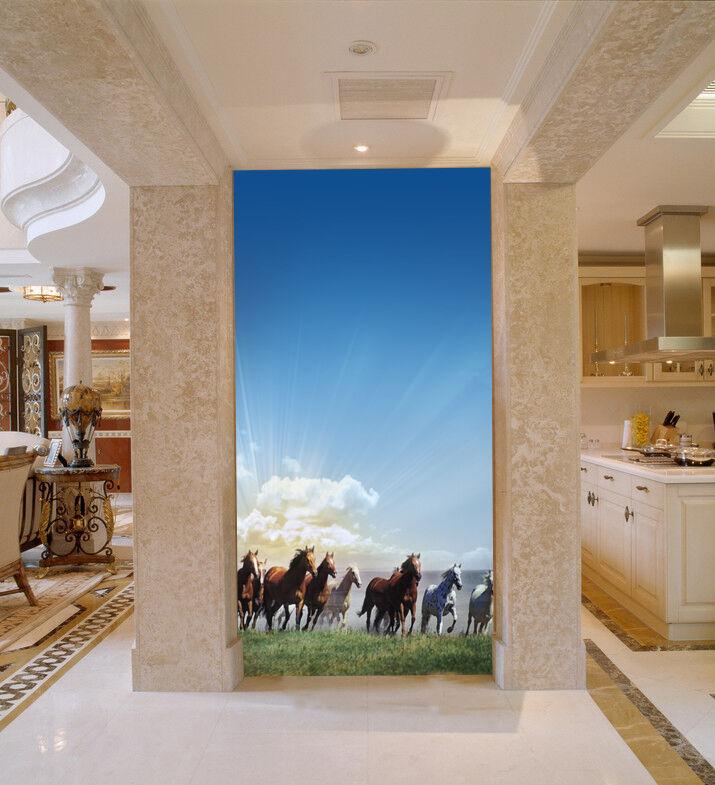 3D molti cavallo  Parete Murale Foto Carta da parati immagine sfondo muro stampa
