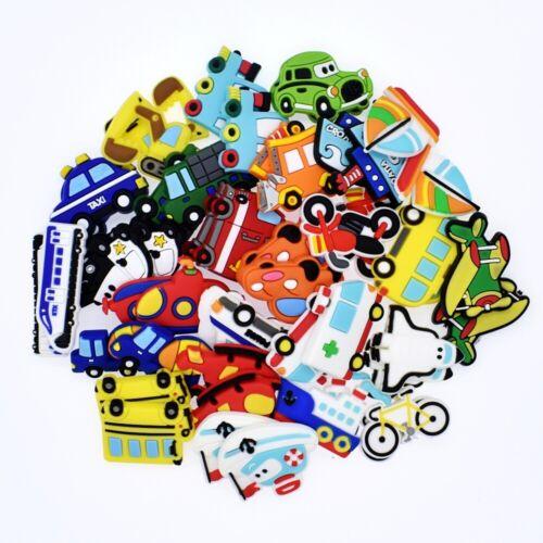 Promotion Gifts 50pcs Various Vehicles PVC Shoe Charms For Hole Shoe//Bracelet