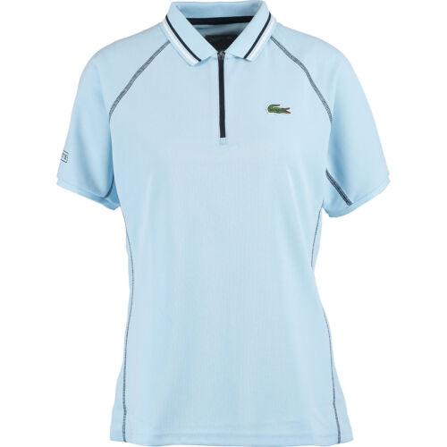 size XS L FR 34 44 Ultra Dry LACOSTE SPORT Women/'s Sky Blue Zip Polo Shirt