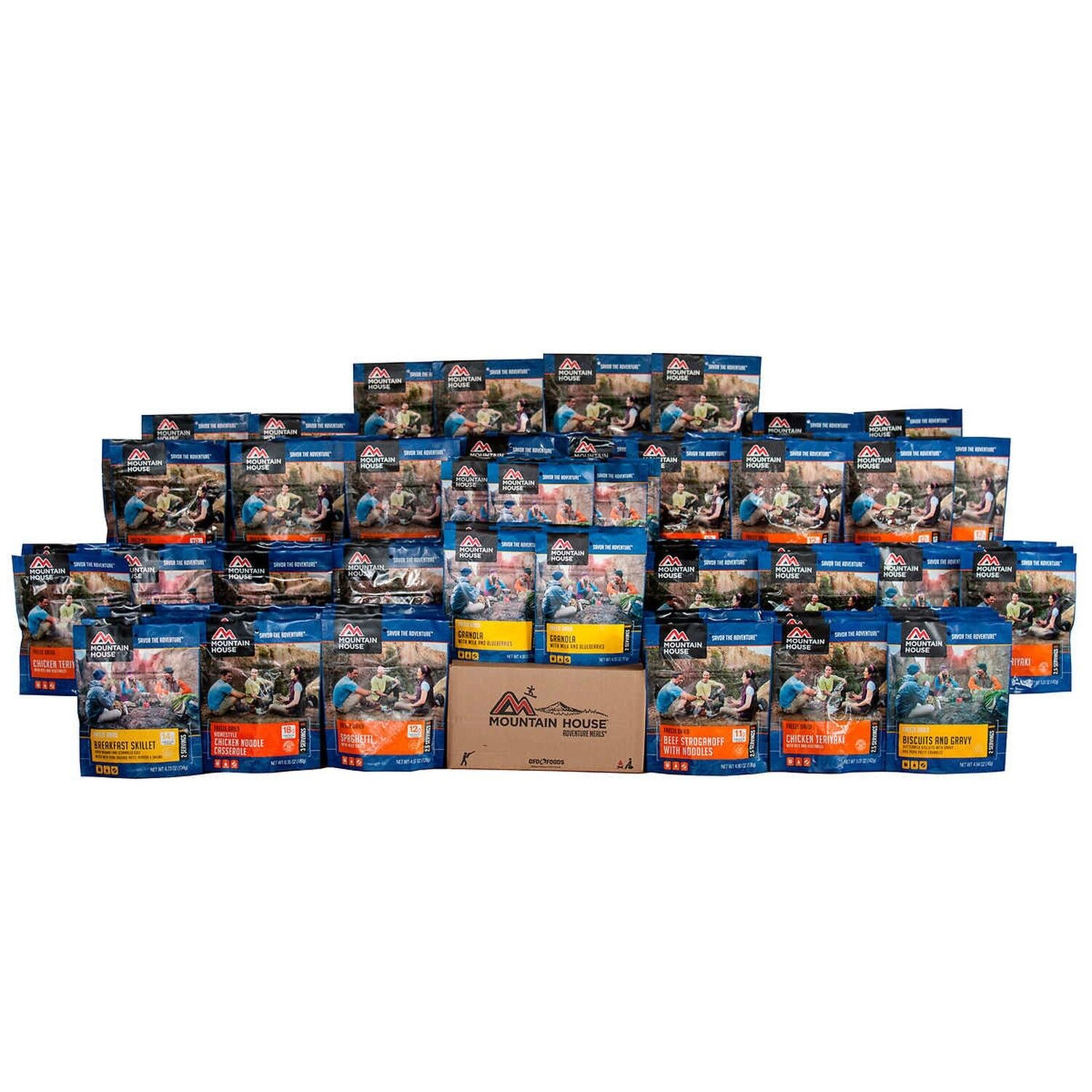 Mountain House  30-day Outdoor Adventure Meal 204 Servings 30 Years Shelf Life  sale online discount