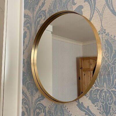 50cm Large Round Gold Wall Mirror, Large Gold Frame Circular Mirror