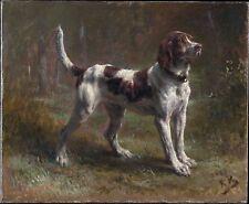 """ROSA BONHEUR, Limier Briquet Hound, DOG, Hunting, antique decor,  14""""x11"""" ART"""