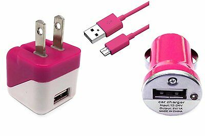 3 in1 Micro USB Home Wall Travel+ Car Charger+ Cable For Samsung LG  Motorola HTC | eBay