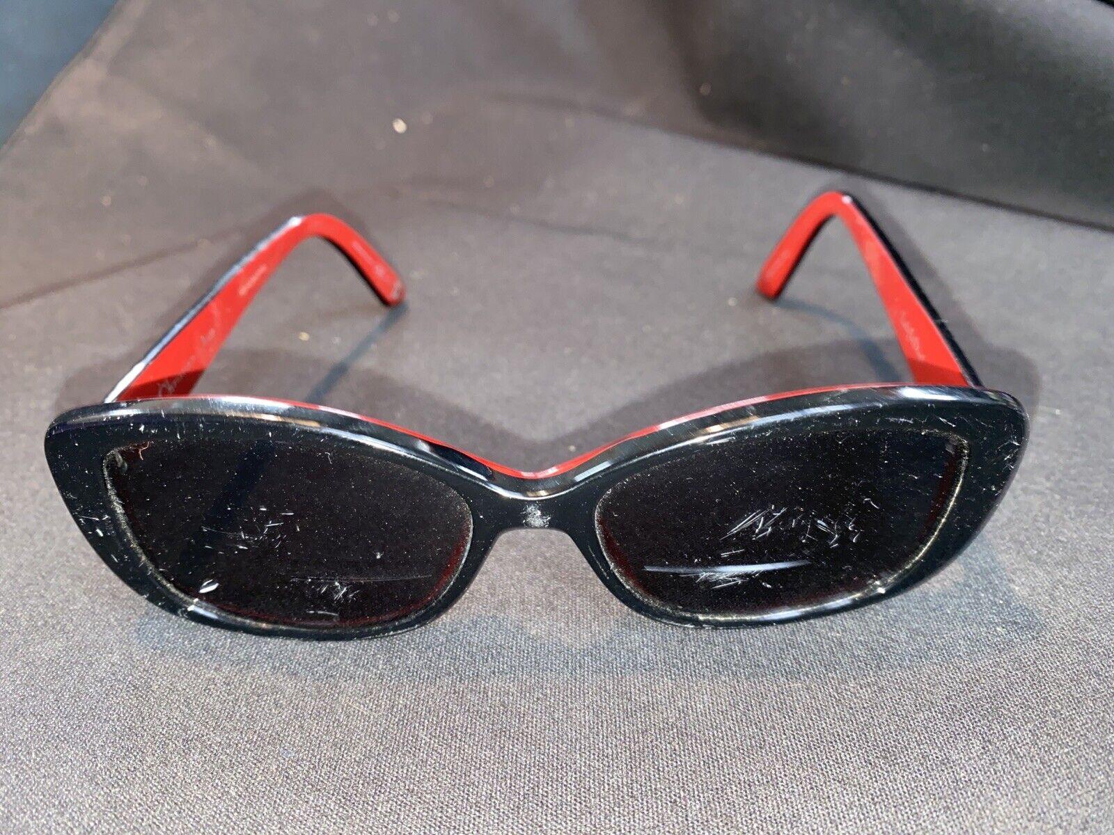 DIOR Women's Prescription Sunglasses Black/Red Rectangle LadyInDior2
